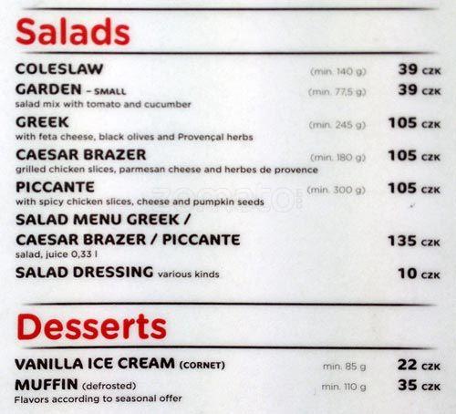 Kfc ceník - kfc menu