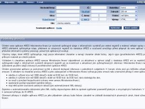 Ares ekonom subjekty registr