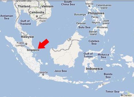 Kde se nachází singapur